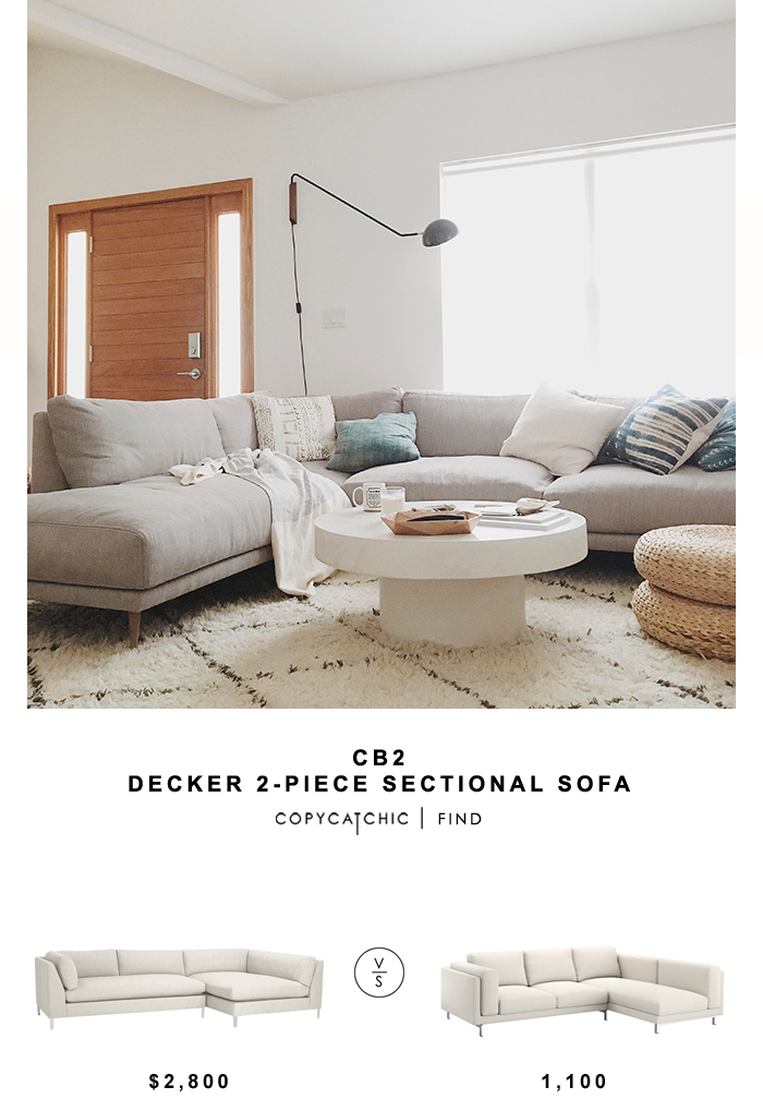 CB2 Decker 2 Piece Sectional Sofa | Copy Cat Chic | Bloglovinu0027