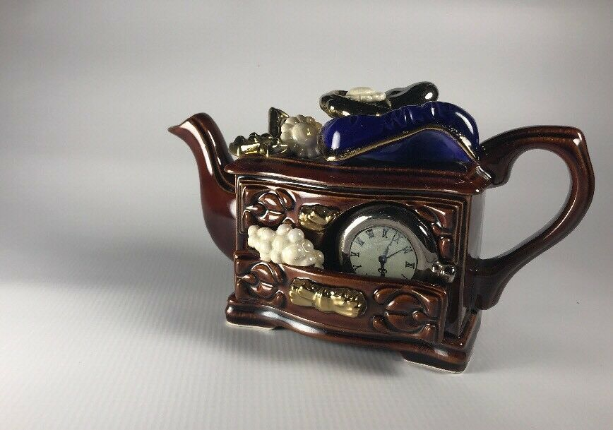 China & Dinnerware Vintage Cardew Design Tea Shop Teapot Signed Vgc