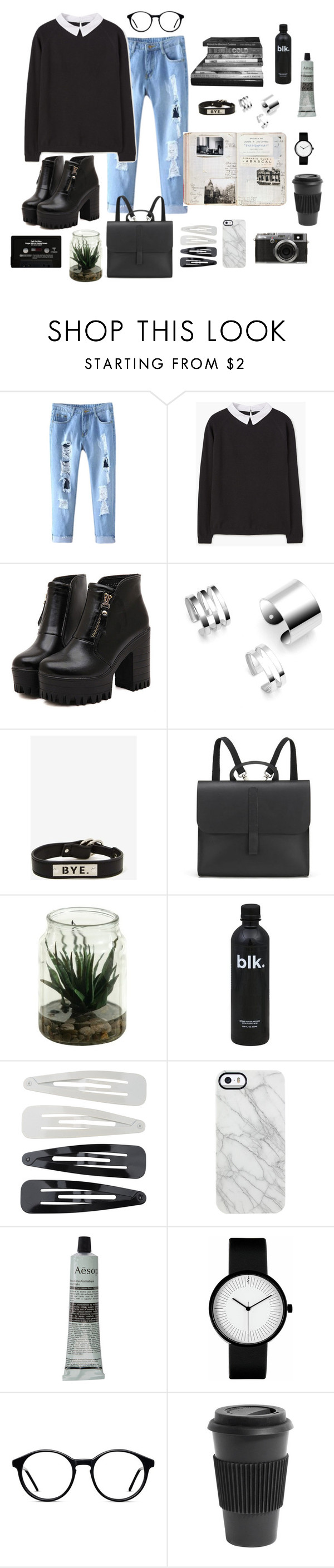 """""""RANDOM THINGS"""" by cooltured ❤ liked on Polyvore featuring MANGO, Dr. Martens, UNIF, Danielle Foster, Forever 21, Uncommon, Aesop, Homage, Fuji and vintage"""