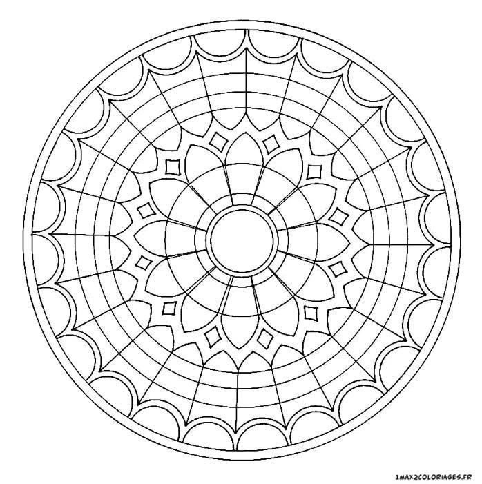 Coloriage Adulte Eglise.Coloriage De Mandalas Mandala Vitraux Eglise A Imprimer Dessins 2