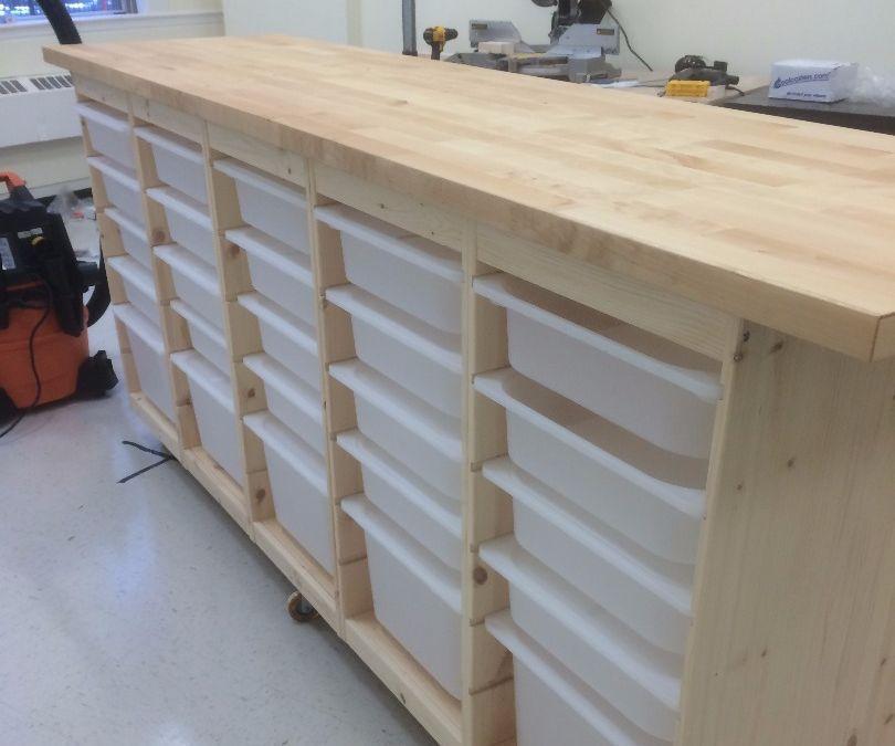 Ikea Rolling Storage Behemoth With Images Craft Room Storage Storage Workshop Storage