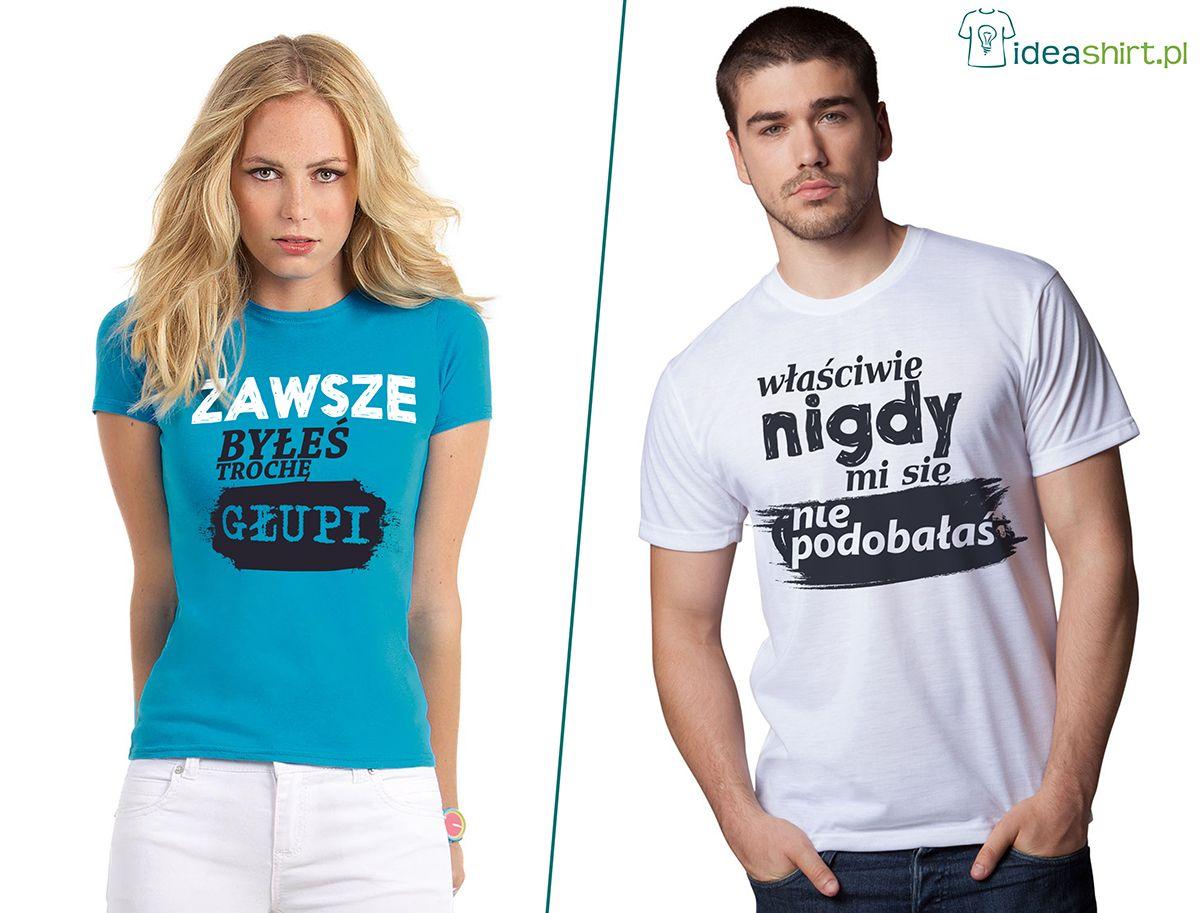 Koszulki Dla Par W Nieco Mniej Romantycznym Ujeciu No Ale Samo