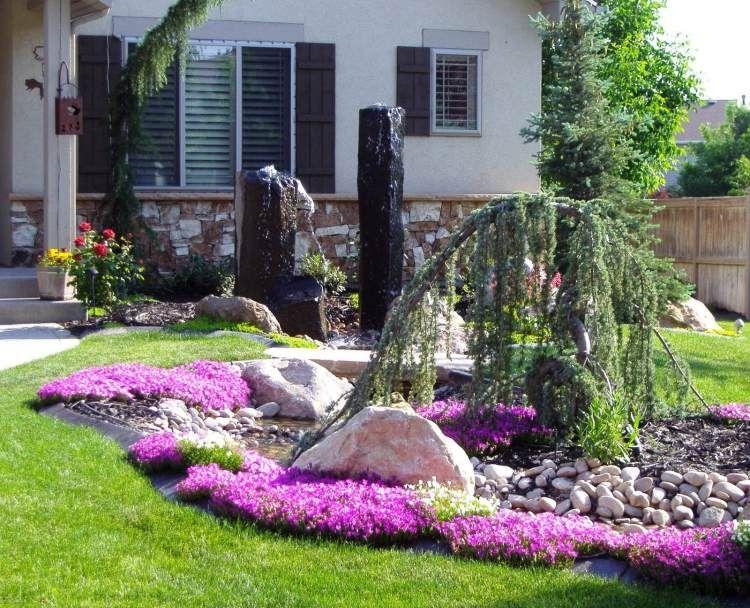 künstlichen Wasserteich im Vorgarten anlegen-Springbrunnen   dom ...