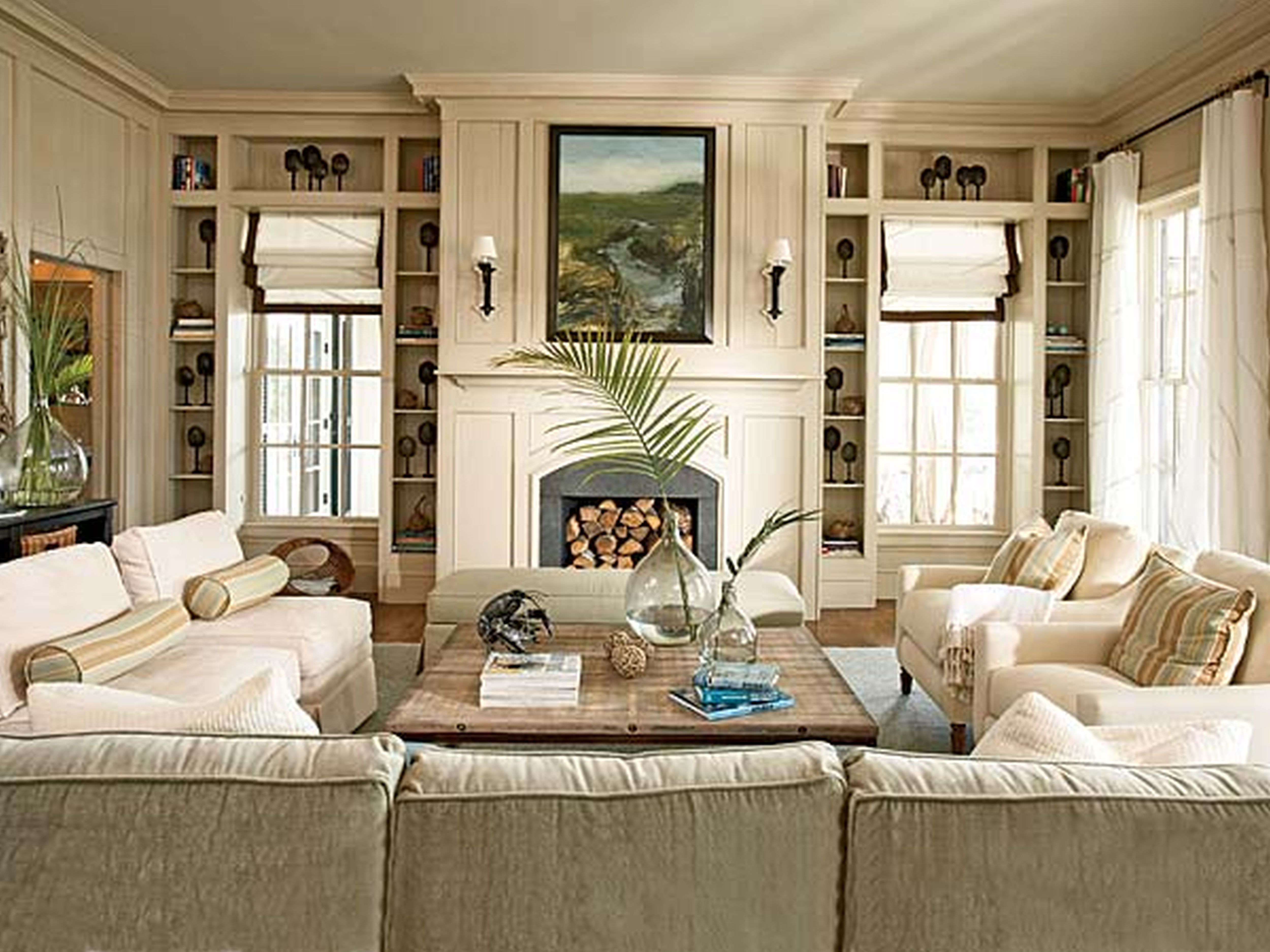 Decorating Peachy Nautical Living Room Coastal Theme ...