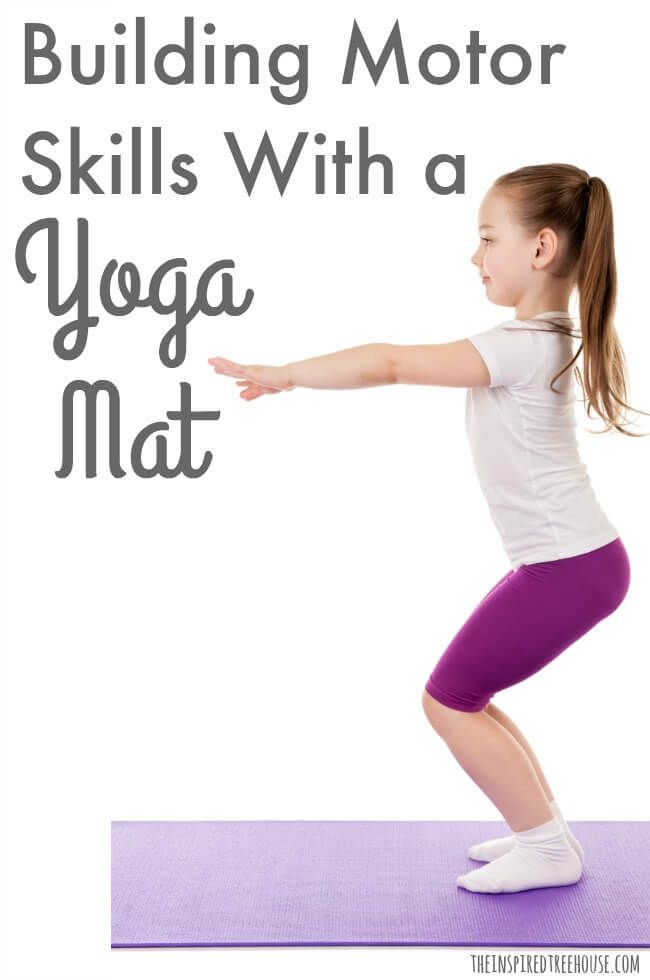Using A Yoga Mat To Create Simple Activities For Kids The Inspired Treehouse Yoga For Kids Exercise For Kids Yoga Mats Best
