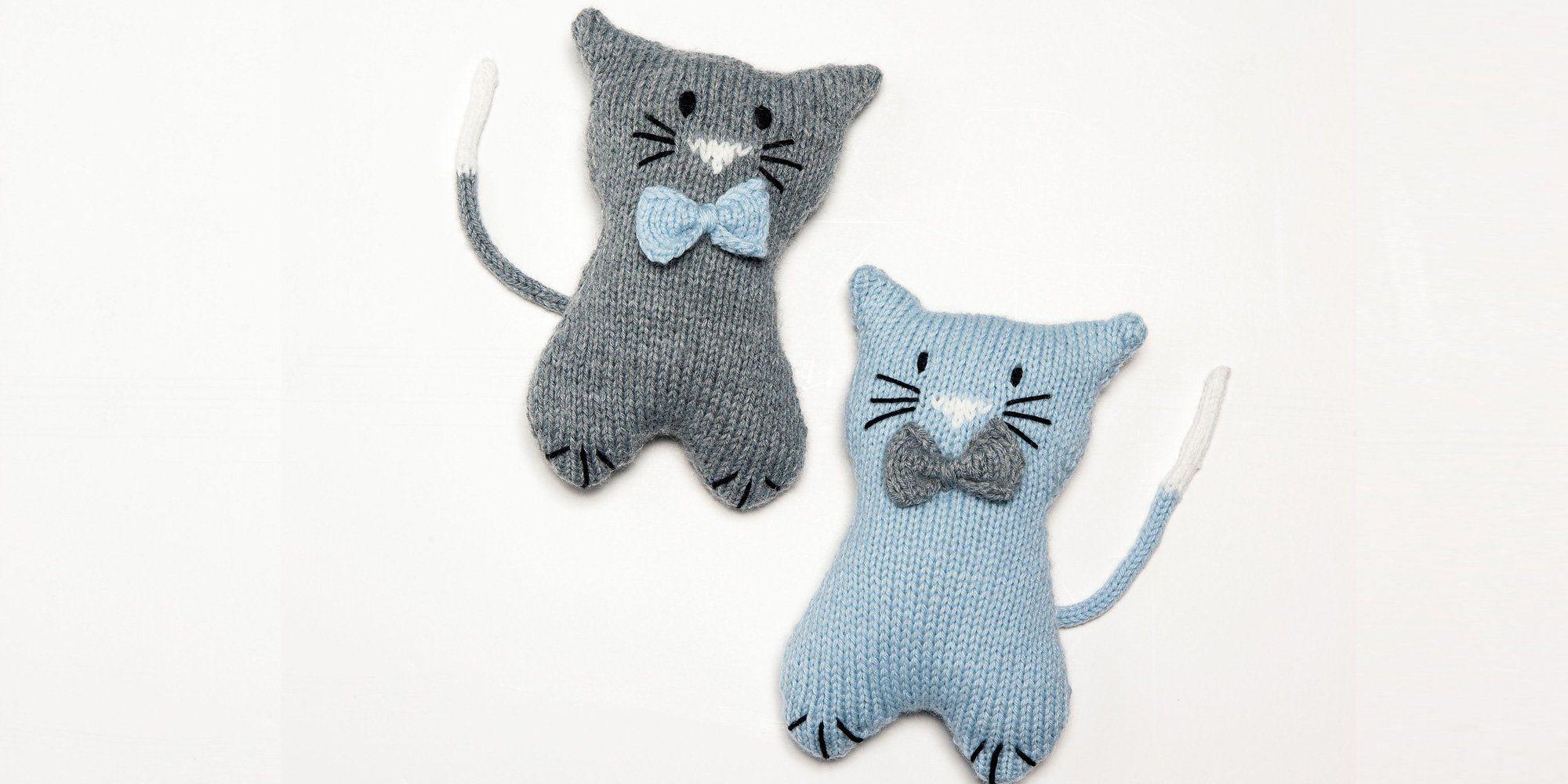 Patron gratuit pour tricoter un doudou chat | Bebe