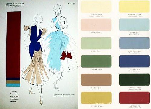 1950s Color Palettes 1953 Evening Dress By Jacque Fath