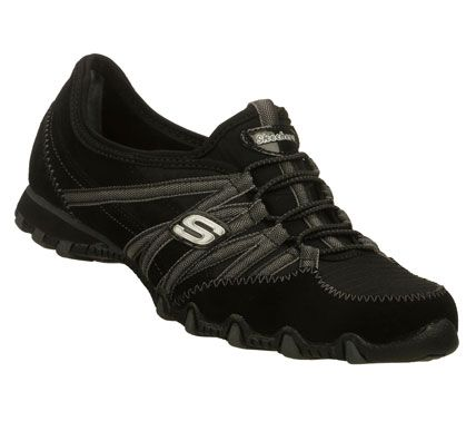SKECHERS Womens Bikers Verified Bungee Sneakers BlackGrey x9xNK