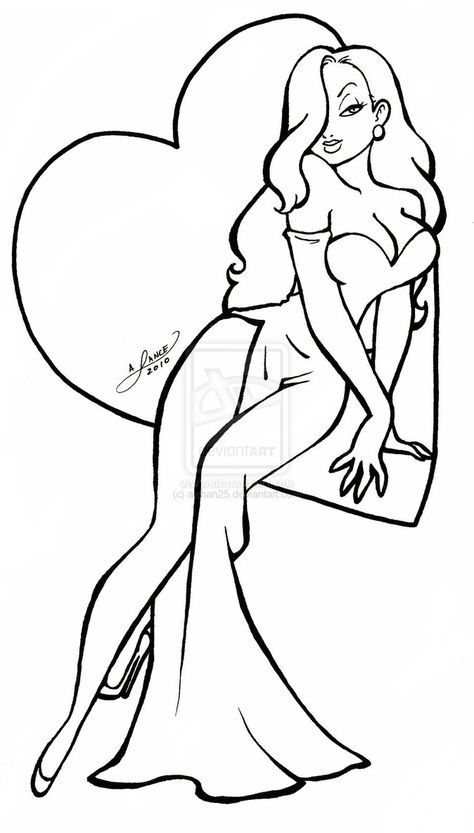 Jessica Rabbit Coloring Pages Cartoon Drawings Jessica Rabbit Cartoon Jessica Rabbit