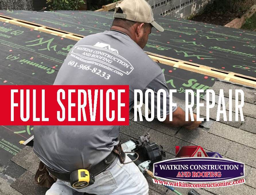 We do roof repairs EVERY DAY! Call 601-966-8233 or visit   www - roofing estimate