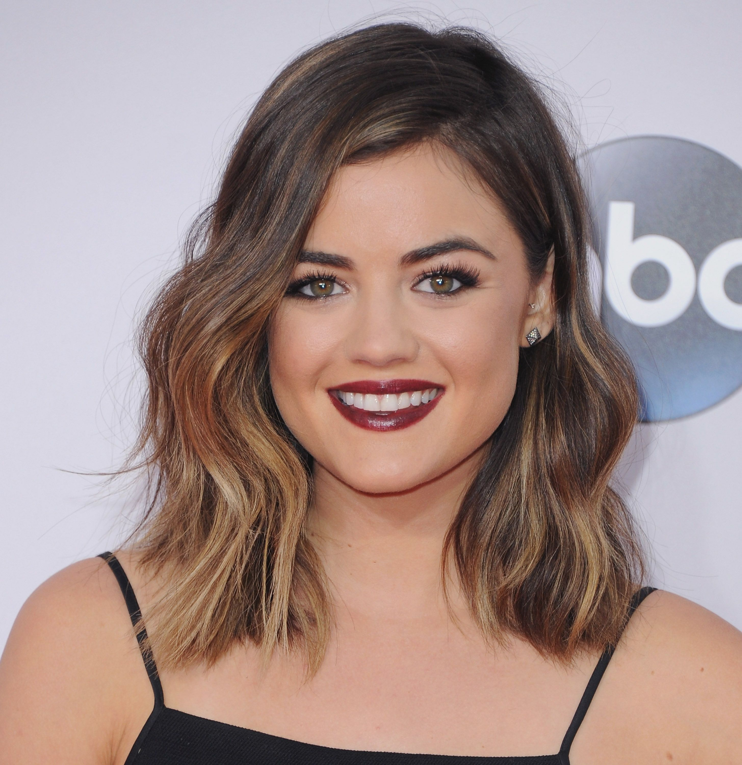 Lucy Hale Lucy Hale Ombre Short Hair And Long Bob
