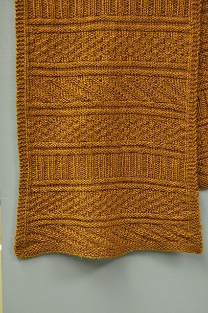 """From Ravelry: purlewe's """"Guernsey Wrap,"""" knit in Fibre Company Cumbria."""