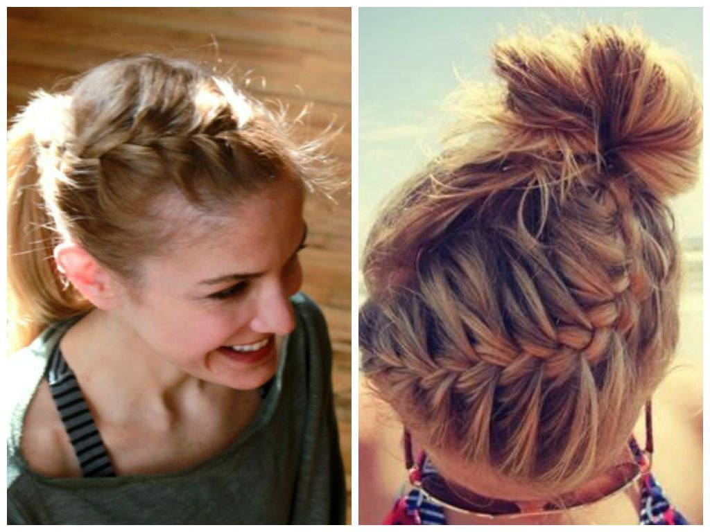 hairstyles to wear to the gym   cute medium hair styles in
