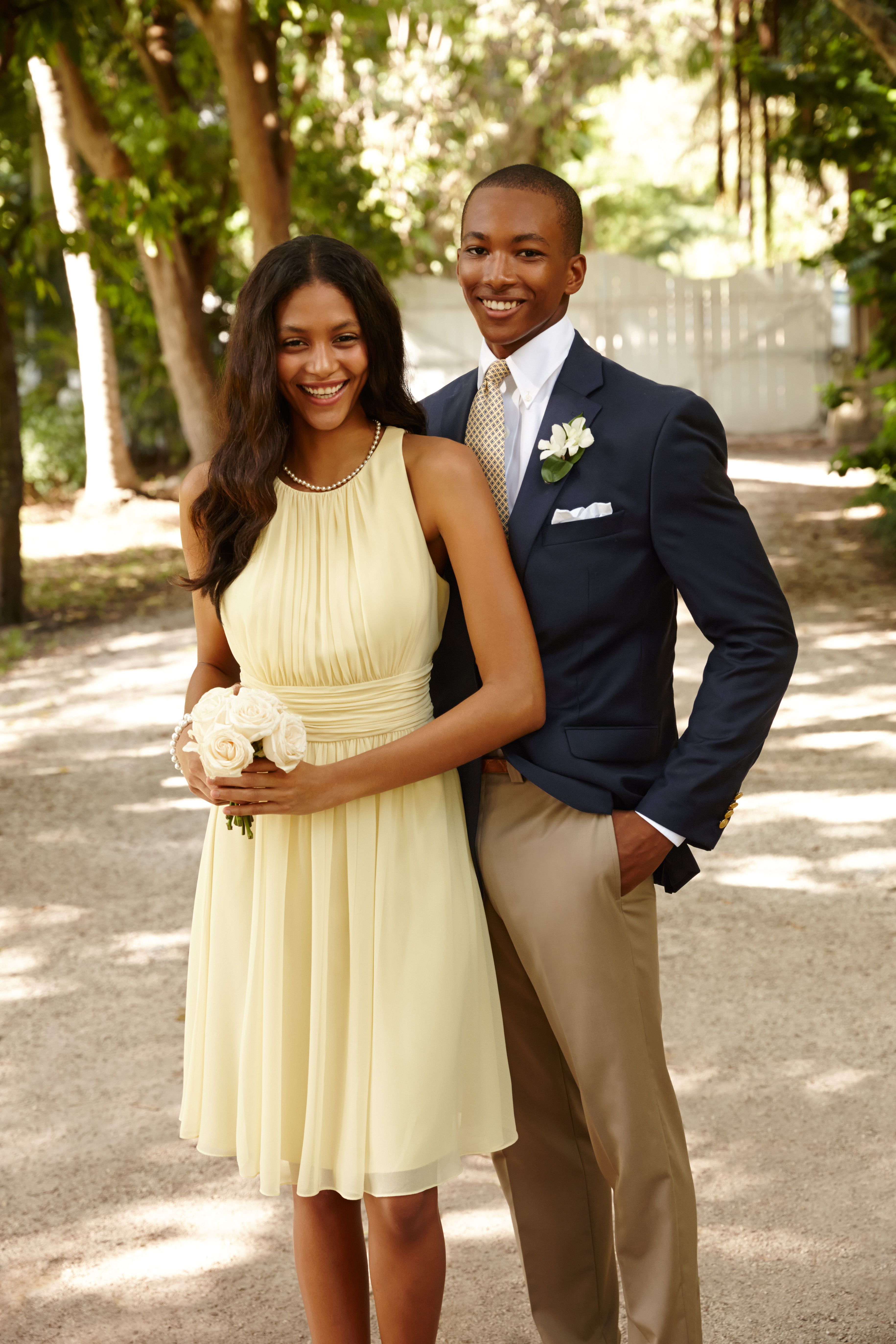 52a074132835 Lauren Ralph Lauren Wedding: Gorgeous pale-yellow dresses and sharp suits  are the perfect match.