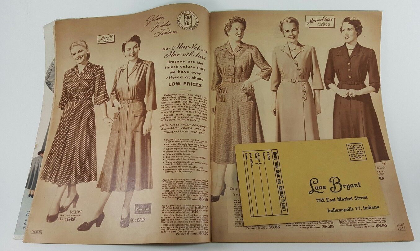ed63ca07e87fd Vintage Fall and Winter 1950 / 1951 Women's Lane Bryant catalog |  Collectibles, Advertising, Clothing, Shoes & Accessories | eBay!