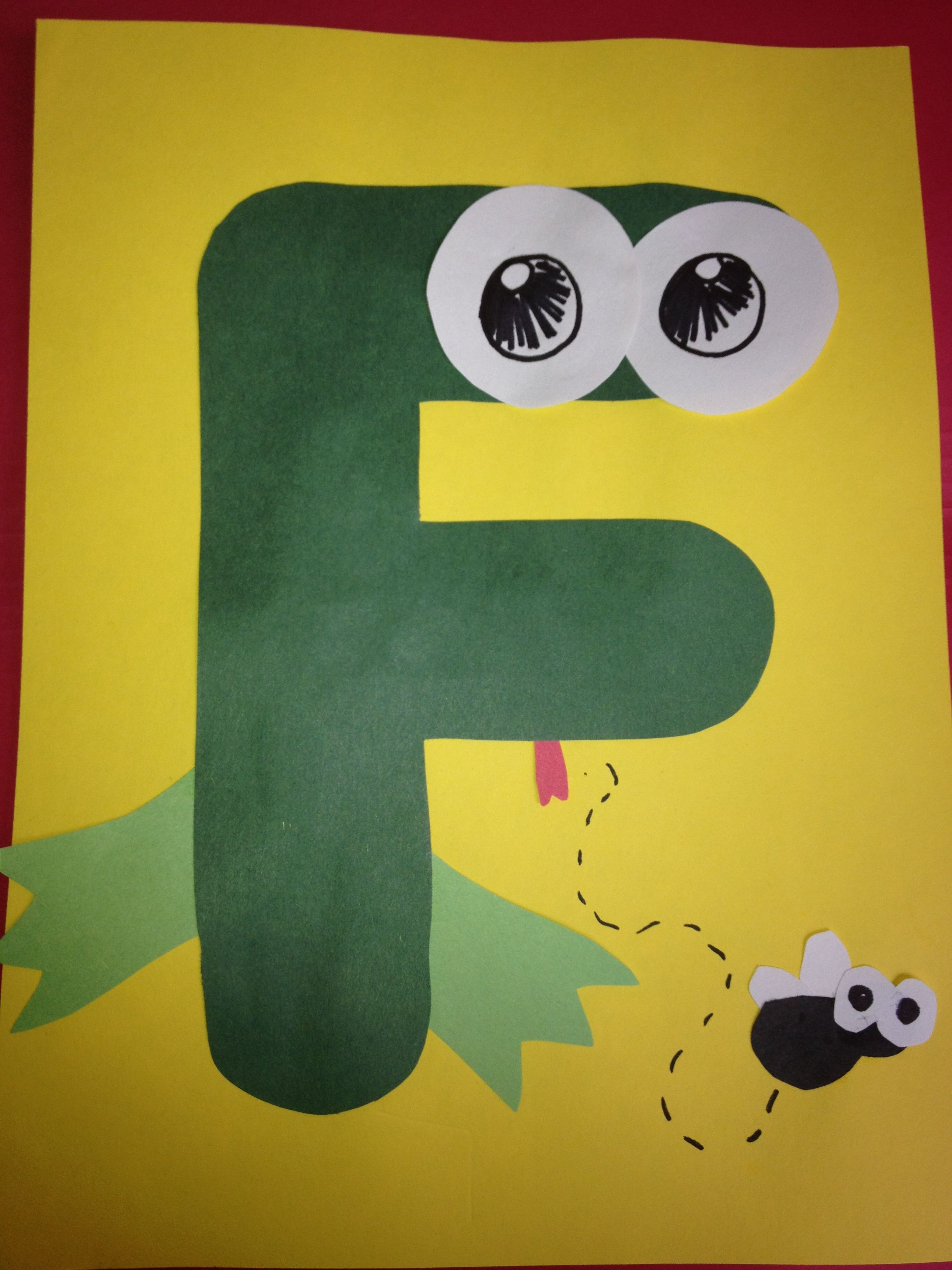 letter f is for frog