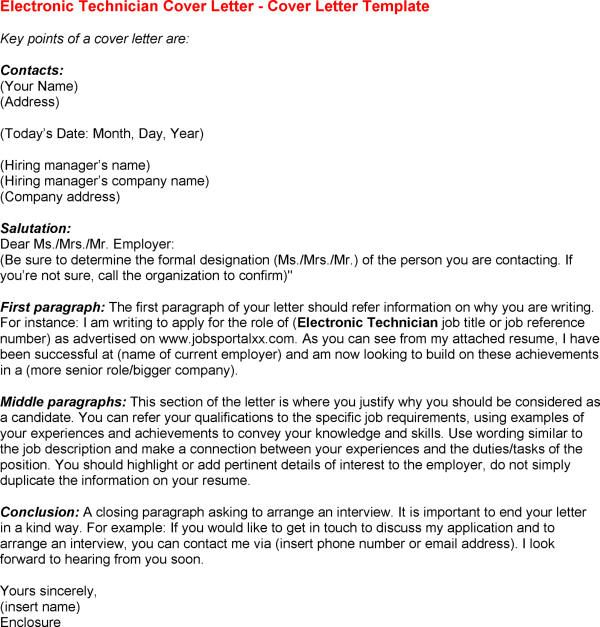 Electronic Cover Letter Format Best Template Collection Others