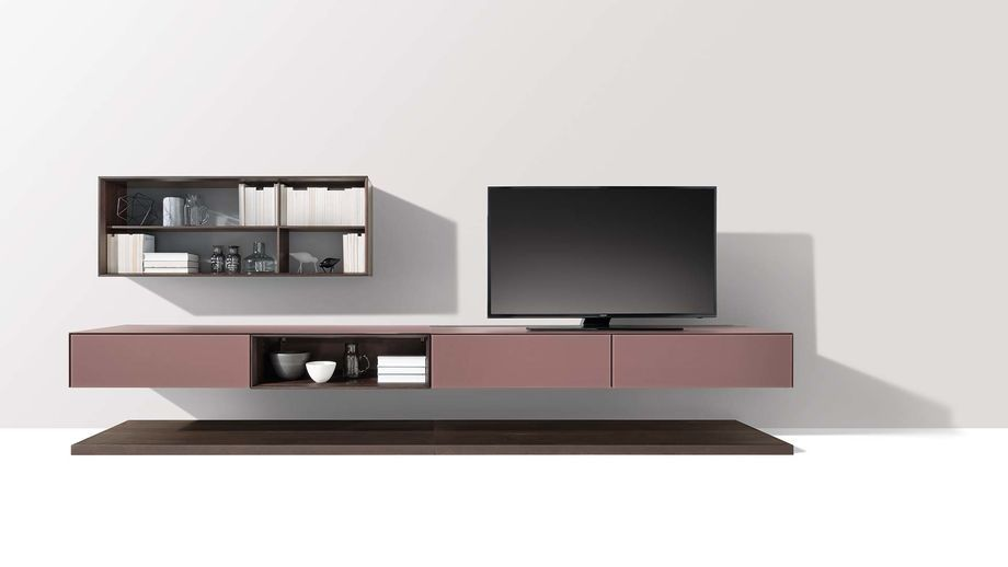team 7 naturholzm bel eiche mokka mit farbglasfronten team7 wohnen und homeentertainment. Black Bedroom Furniture Sets. Home Design Ideas