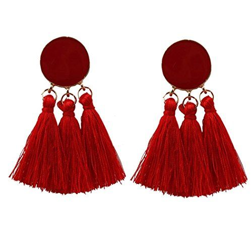 Femmes Ethnique Bohème Longue Tassel Fringe Ear Stud Dangle Boucles d/'oreilles Bijoux Cadeau
