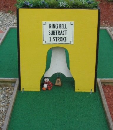 Homemade Obstacles For A Mini Golf Course Google Search Golf Diy Miniature Golf Miniature Golf Course