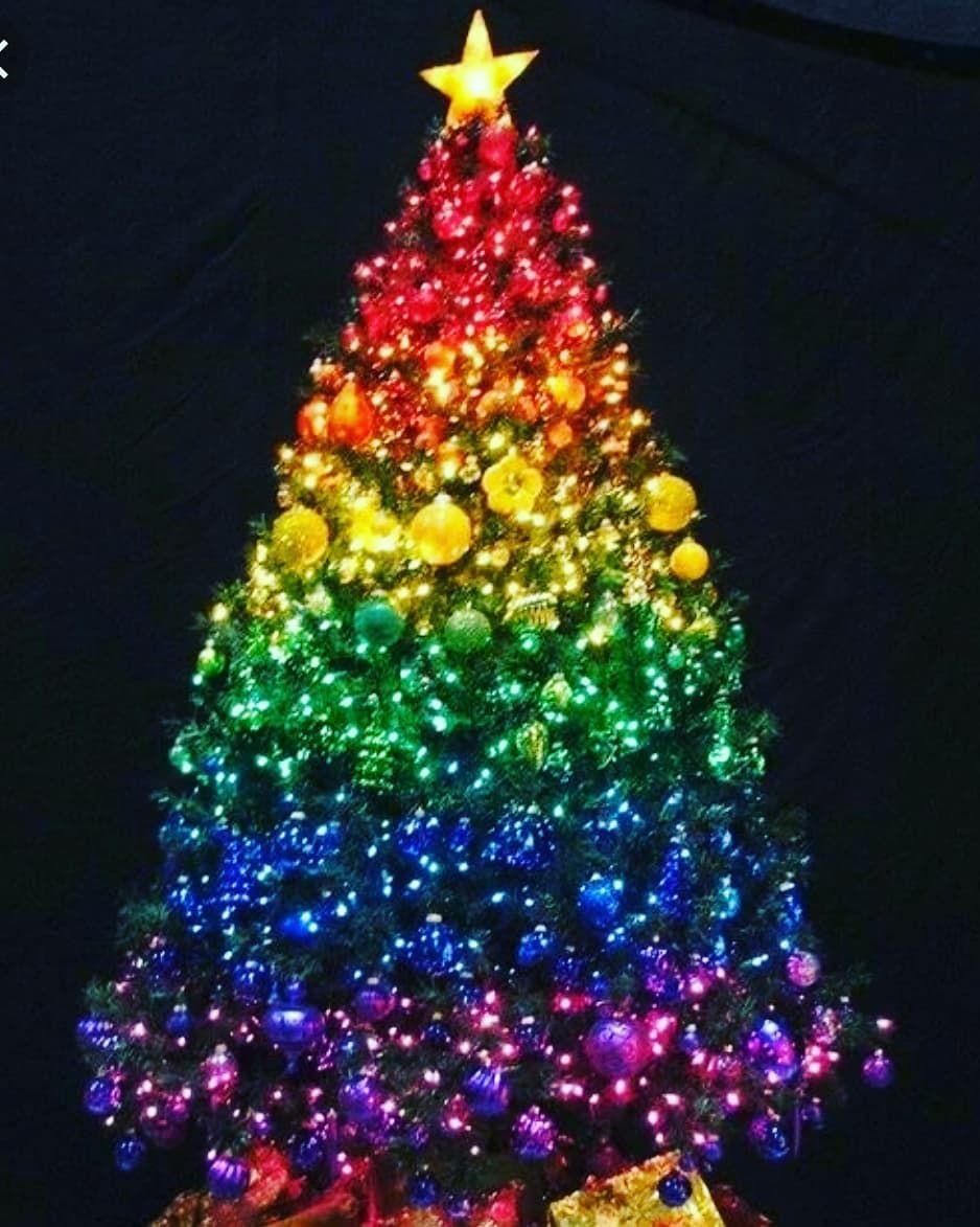 Merry Christmas Everybody Merrychristmas Merryxmas Rainbow Tree Jolly Colors Joy Peace Fun Mem Merry Christmas Everybody Merry Xmas Merry Christmas