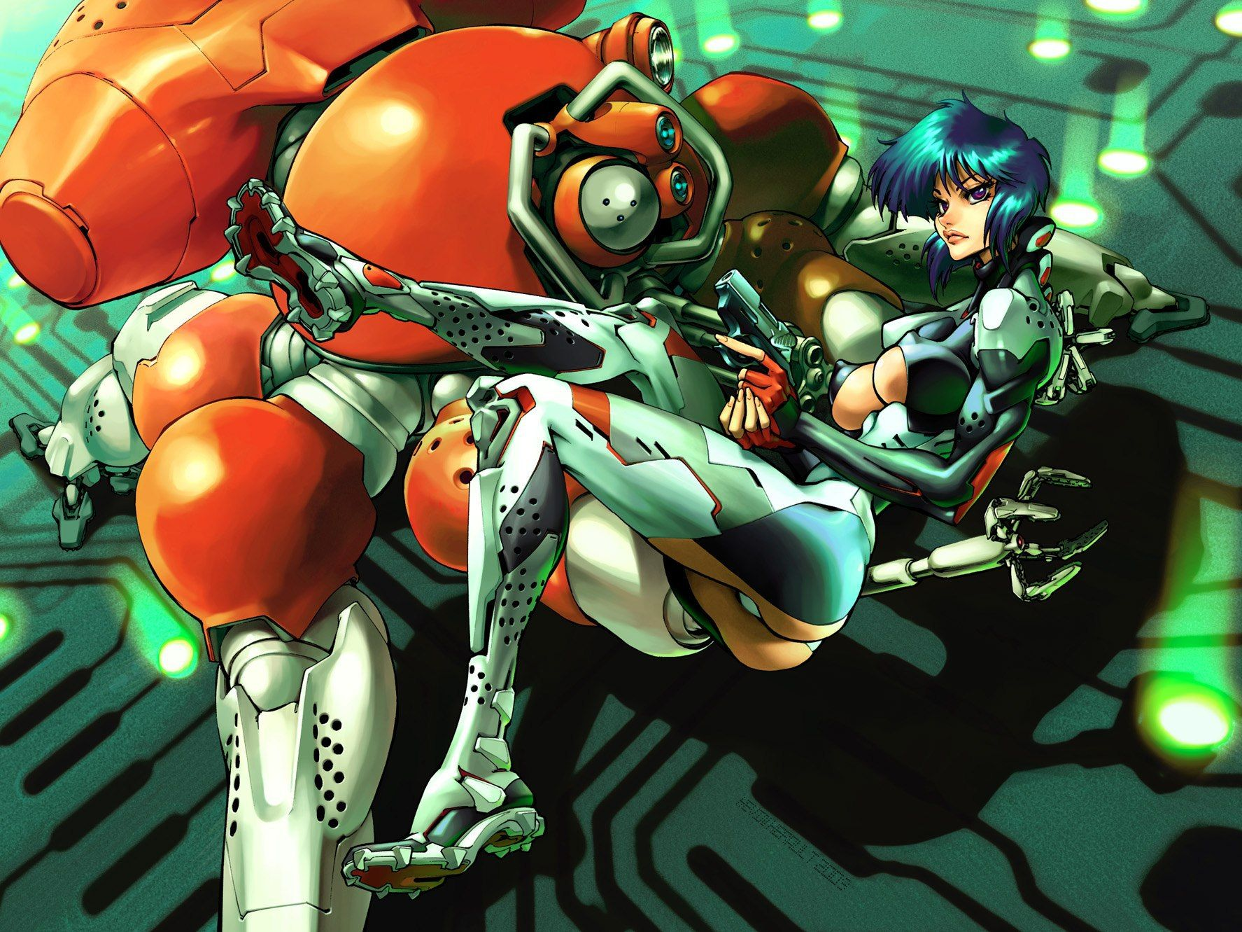 The Major Fuchikoma Ghost In The Shell Ghost In The Shell Anime Ghost Anime