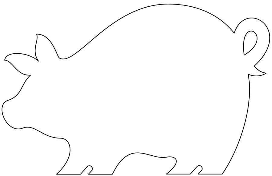 Blank Animal Shapes Templates