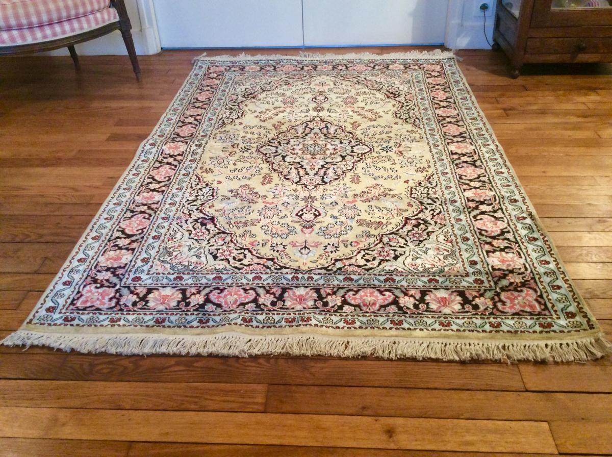tapis pakistan fait main laine soie