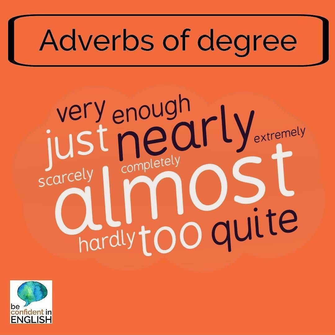 Some Examples Of Adverbs Of Degree These Provide More Information
