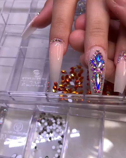 Pink coffin nails design