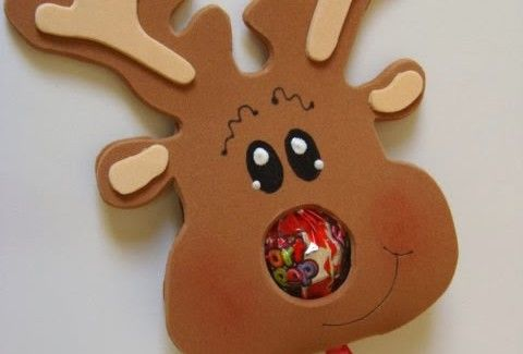 Renos en foami navide os imagui manualidades for Manualidades renos navidenos