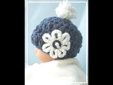 HOW TO CROCHET A 15 MINUTE CHUNKY STYLE BABY HAT - YouTube   Baby ...