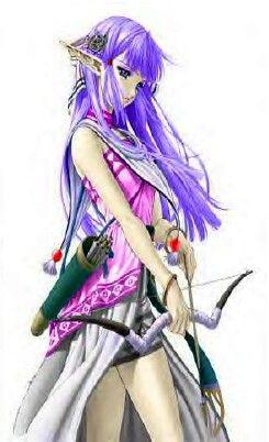 Elf With Purple Hair Anime Elf Anime Warrior Anime