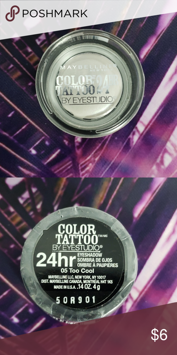 Maybelline Color Tattoo Eyeshadow New 05 Too Cool 24 Hour Eyeshadow Maybelline Color Tattoo Maybelline Color Color Tattoo Eyeshadow