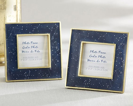 Kate Aspen's beautiful constellation-adorned frame is perfect for your star themed party. Use it for photos, table numbers, menu cards -- the sky's the limit!
