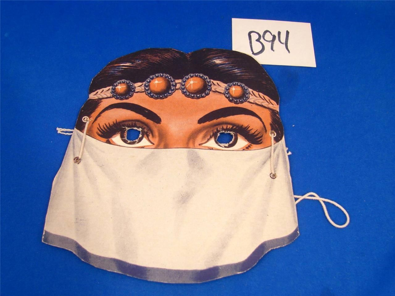 b94 vintage wheaties cereal box premium halloween mask jeanie arabian princess - Premium Halloween Masks