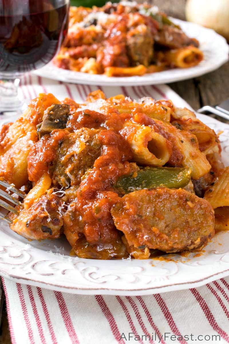 Photo of Baked Rigatoni with Italian Sausage and Meatballs – A Family Feast®