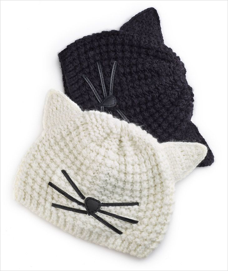 Karl Lagerfeld Choupette Capsule Collection   quirky hats   Knitting ...