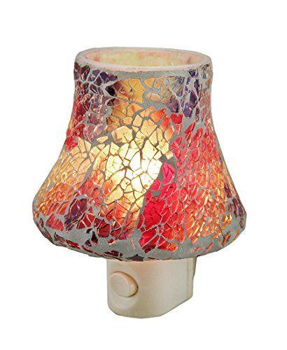 Colorful Mosaic Art Glass Plug In Night Light Zeckos Https Www Amazon Com Dp B01ez3yg20 Ref Cm Sw R Pi Dp X M Qjzbwa7rn Night Light Glass Plugs Crackle Glass