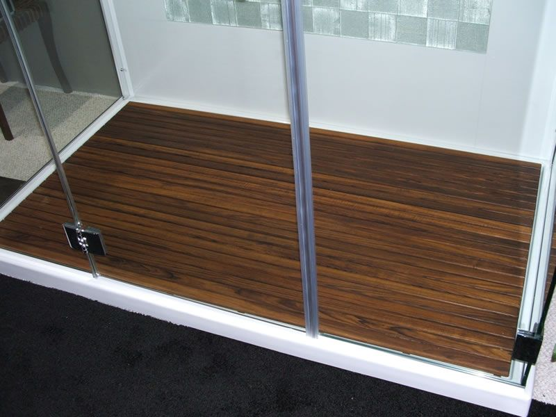 Custom Teak Mat For WalkinShower The Bath Pinterest Teak - Diy bathroom shower flooring ideas