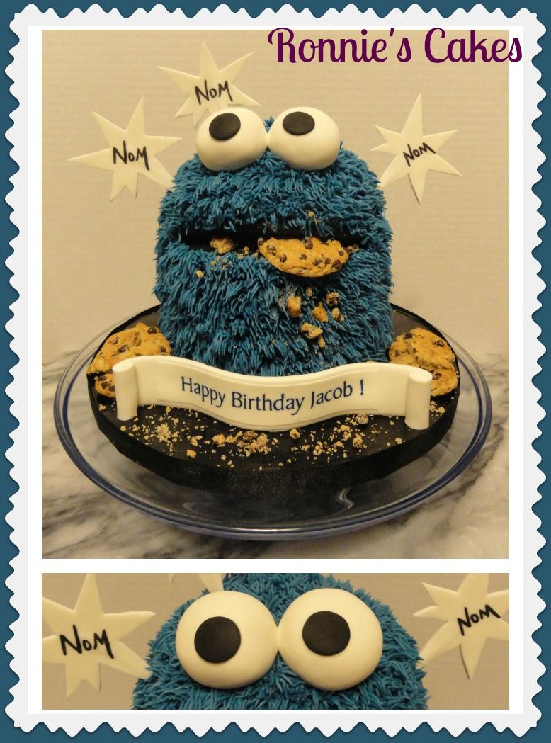 Birthday Cake For Ronnie : Pin by Ana Blancas on Cookie Monster birthday theme ...