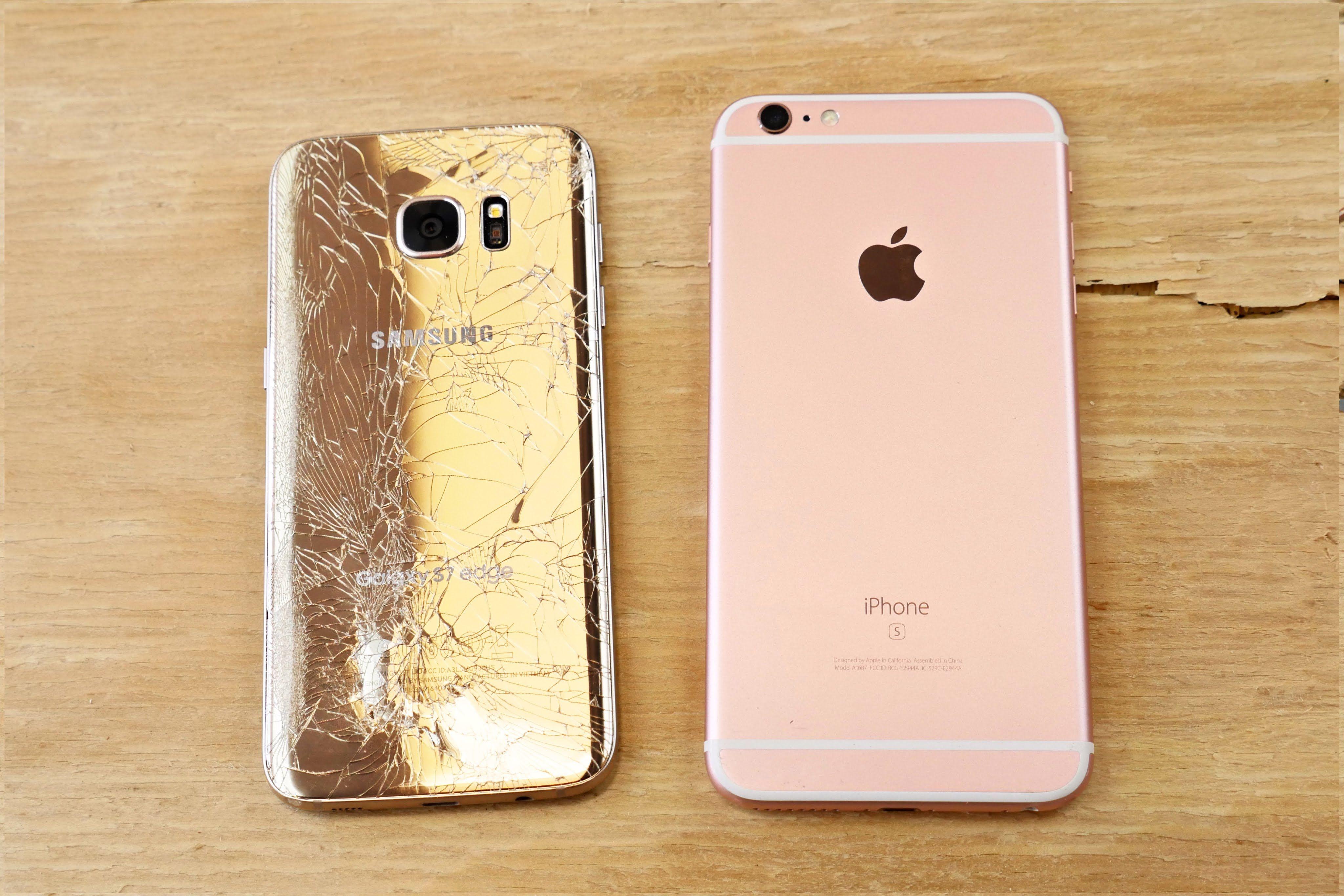 Samsung Galaxy S7 Edge Vs Iphone 6s Plus Drop Test Iphone Samsung Galaxy S7 Samsung Galaxy S7 Edge