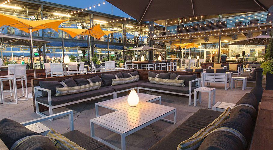 outdoor lounge and dining Topgolf Dallas | Dallas event ...