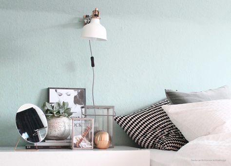 Wandfarbe Mint im Schlafzimmer streichen. | [ room ideas ] in 2019 ...