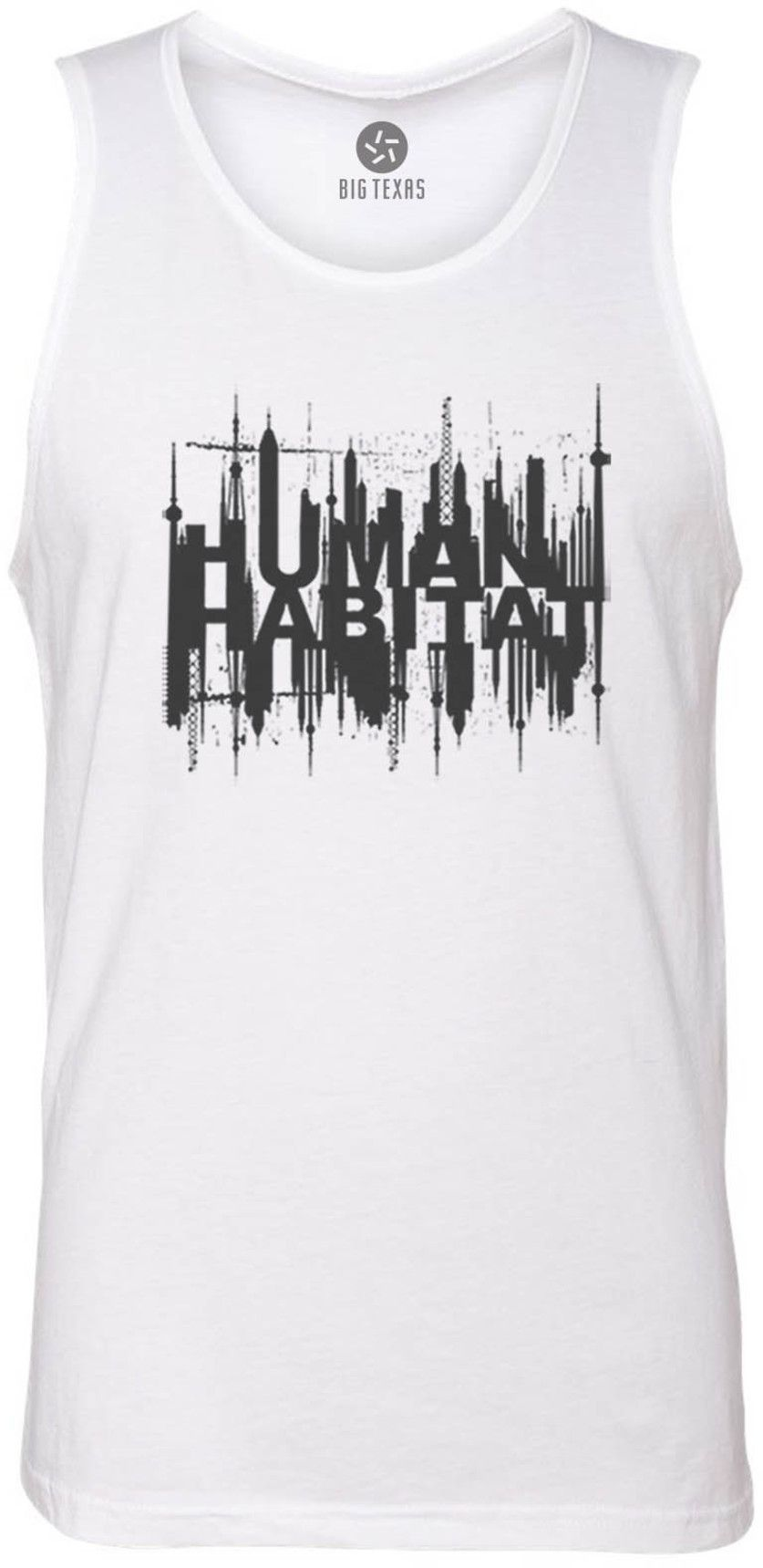 Human Habitiat (Grey) Tank-Top T-Shirt