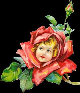 Zibi Vintage Scrap Kwiaty We Wlosach Potargal Wiatr Vintage Illustration Vintage Drawing Vintage Flowers