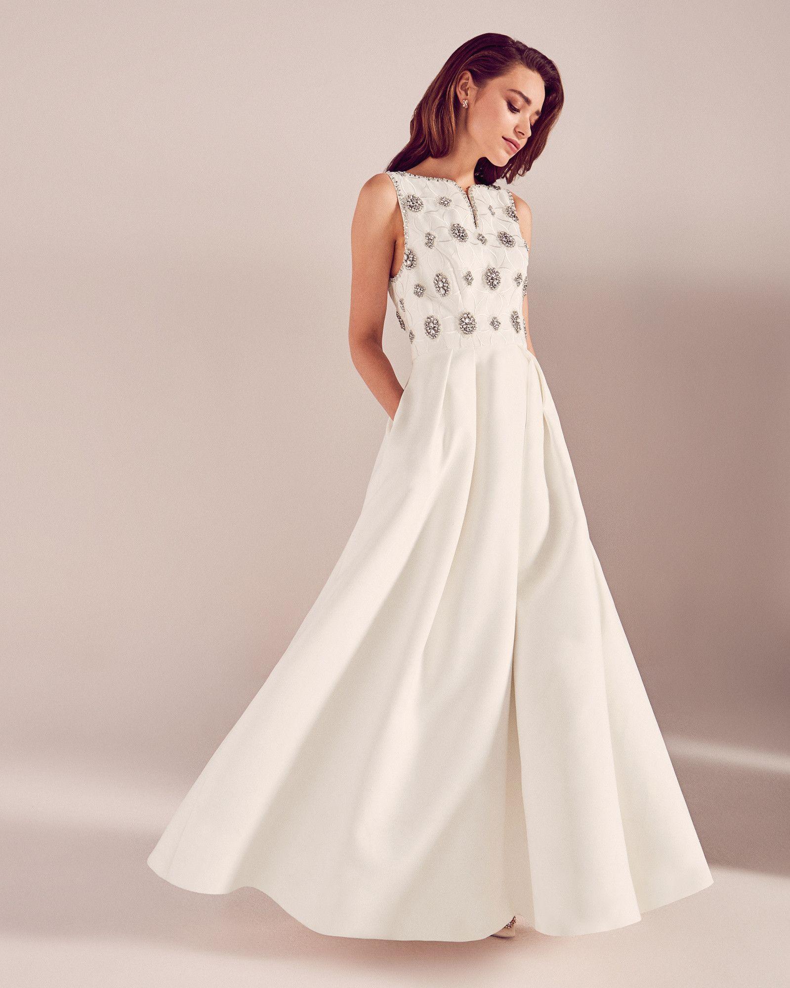 tedbaker WedWithTed Embellished detail bridal dress