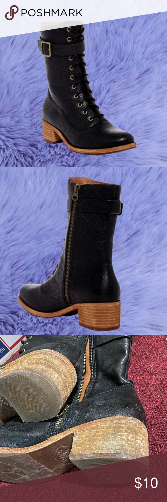 kork ease lace up boots