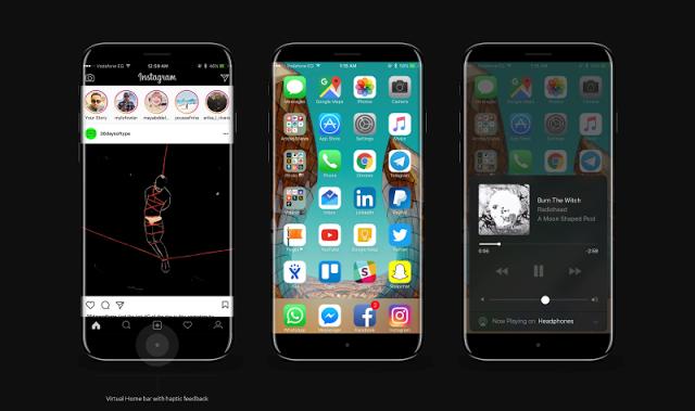 زبناء أبل لا تزال امامهم ستة أشهر مؤلمة للانتظار قبل ان تكشف أبل النقاب عن جهازها آي فون 8 Iphone الرائد الهاتف الذكي الذي ي Iphone Ipad Hacks Iphone 8 Concept