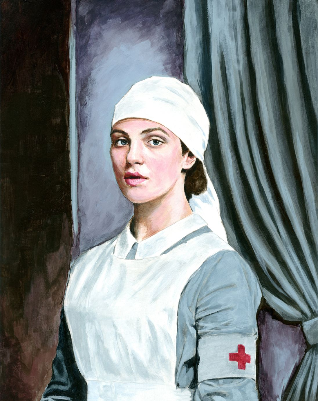A painting I did of Lady Sybil Crawley from Downton Abbey. I love portrait painting now, I can't wait to do more!